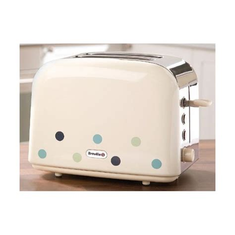 Breville Blue Toaster - breville vtt324 2 slice toaster with blue dots
