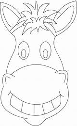 Mask Horse Coloring Pages Head Printable Colouring Animal Craft Coloringsky Crafts Getcolorings Wild sketch template