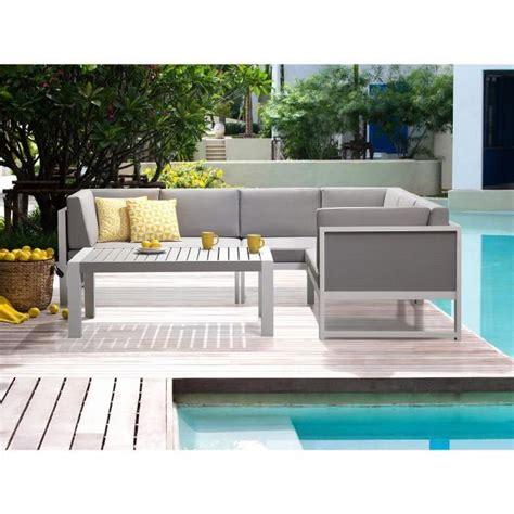canape jardin aluminium salon de jardin canapé d angle et table basse