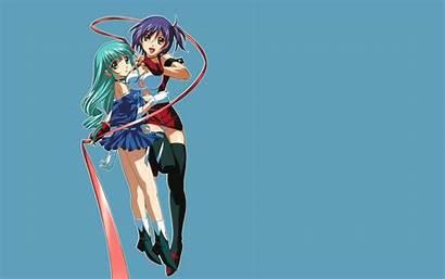 Kiddy Grade Anime Aqua Eyes Desktop 2girls