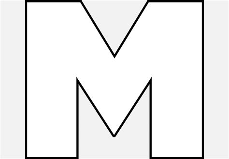 letter m black and white black and white block letter m pictures to pin on