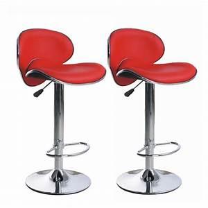 Chaise De Bar Rouge : chaise de bar rouge cuisine en image ~ Teatrodelosmanantiales.com Idées de Décoration