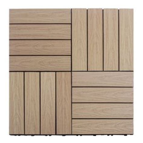 Kontiki Deck Tiles Canada by Kontiki Driftwood 12 X 12 Inch Composite Interlocking
