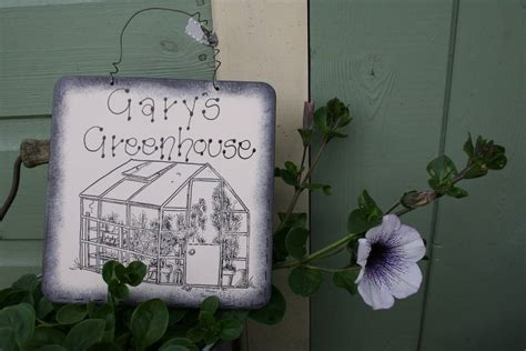 Personalised Wooden Garden Sign Primitive Angel