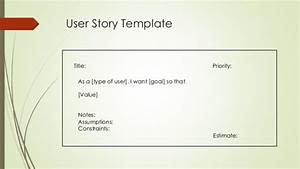 Epics and user stories for As a user i want user story template