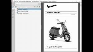 Vespa S 50 - Service Manual    Repair Manual
