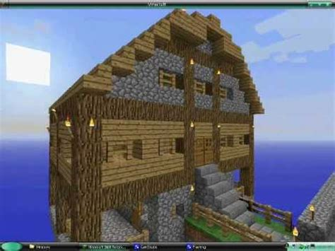 minecraft big wooden house youtube