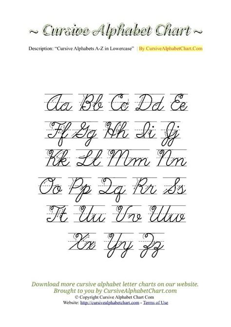 uppercase lowercase cursive alphabet charts  arrows
