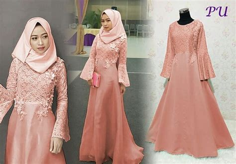 jual putri salem dress pesta hijabers dress bridesmaid