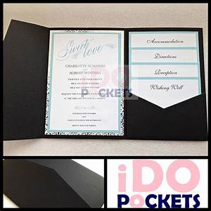 matte black wedding invitations diy pocket cards envelopes With how to make wedding invitations with pockets