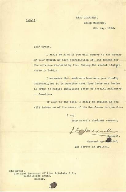 Rising Order 1916 Maxwell Remembering Letter Dublin