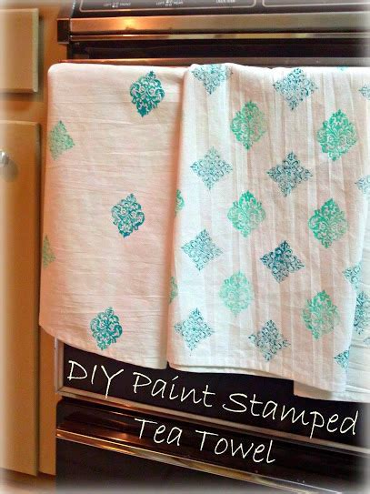 Greneaux Gardens: Fabric Paint Stamped Tea Towel