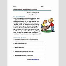 Reading Worksheets  First Grade Reading Worksheets