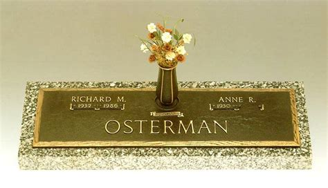 bronze memorials cemetery grave markers plaques by