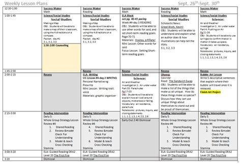 weekly lesson plan template pdf 5 components to a great weekly lesson plan org