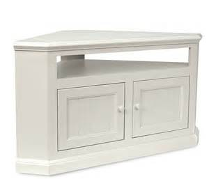 tall white tv stand