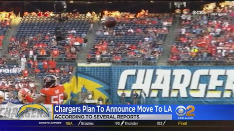 San Diego Chargers Moving To Los Angeles This