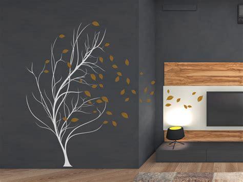 Wandtattoo Baum Ecke by Wandlungsf 228 Higes Wandtattoo Baum Im Wind Einfach