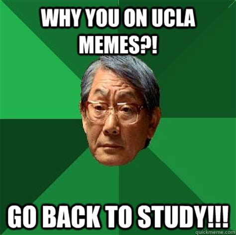 Ucla Memes - why you on ucla memes go back to study high expectations asian father quickmeme