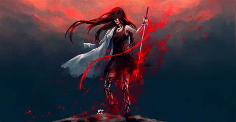 Blood Anime Wallpaper - artwork anime warrior blood