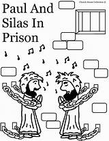 Silas Paul Prison Coloring Pages Bible Sunday Crafts Printable God Preschool Acts Lessons Jail Craft Coloringhome Lesson Story Children Church sketch template