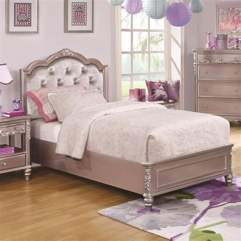 size bed coaster caroline 400890t size bed and tufted