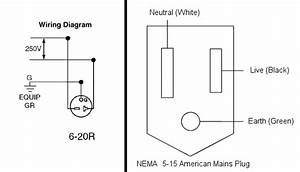 Can You Convert A Nema 6-20p Outlet To Fit A Nema 5-15 Standard North American Plug