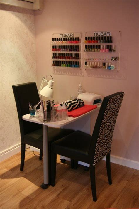 small space nail station  nail technician room home