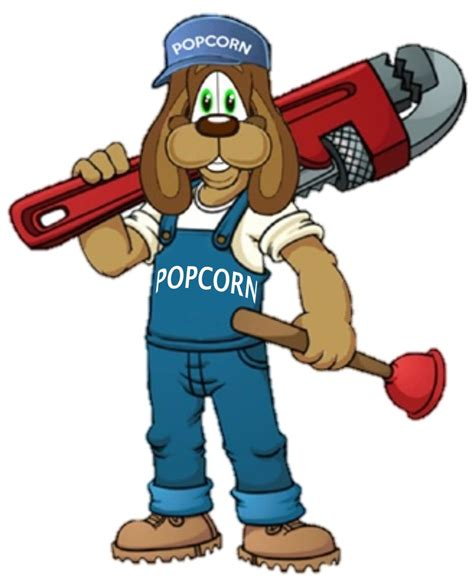 Plumbing And Drain Cleaning by Our Mascot Popcorn Popcorn Represents Our For Pets