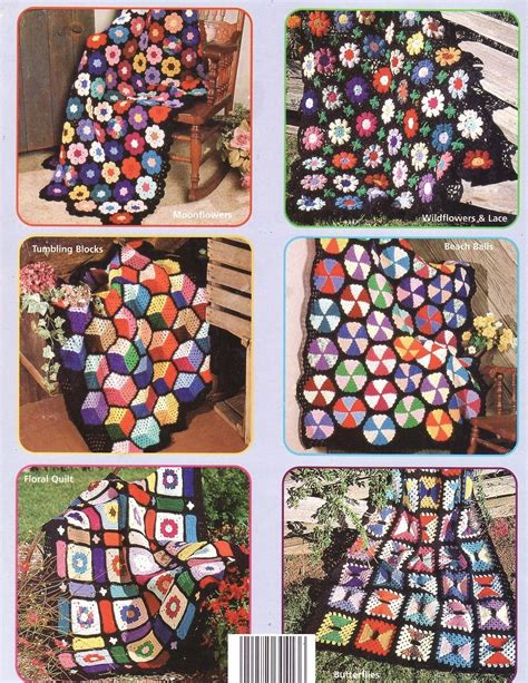 Scrap Yarn Afghans Crochet Patterns Book Blankets 7