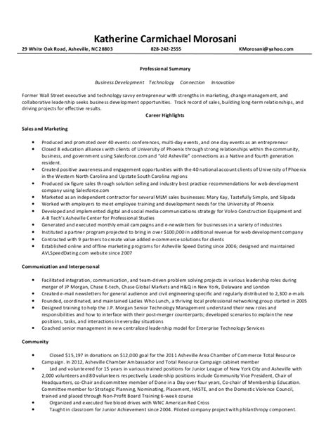 Resume With Monsters by Katherine Morosani Resume For