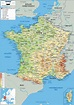France Map (Physical) - Worldometer