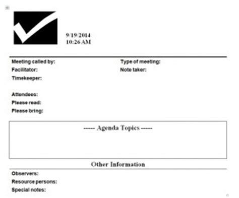 agenda sample printable format  sample template
