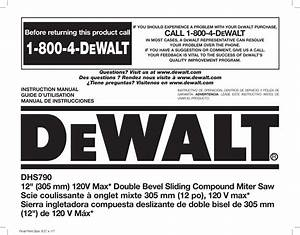 Dewalt Dhs790ab Type 20 User Manual Miter Saw Manuals And