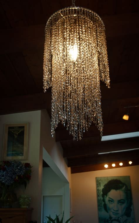 topaz layered chandelier lamp shade plastic beads