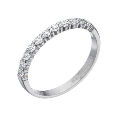 gold womens wedding band memoire white gold 39 s wedding band king jewelers