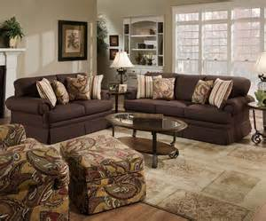 Red And Chocolate Brown Living Room Gallery