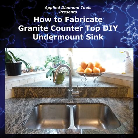 how to cut and granite undermount sink dvd