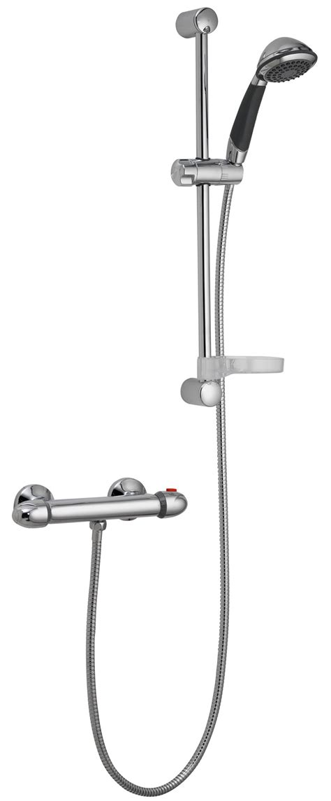 How To Remove Shower Riser Rail - pura thermoforce 1 shower valve and riser rail kit