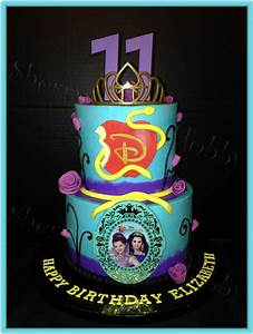 Disney Descendants Buttercream Birthday Cake - CakeCentral com