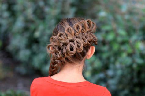 diagonal bow braid popular hairstyles cute girls