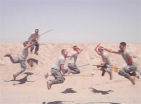 soldiers pose  quidditch pictures  afghanistan