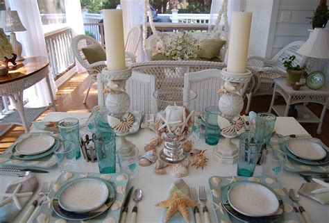 beach dinnerware tablescape table themed theme setting sets settings seaside summer coastal beachy tablescapes sea place betweennapsontheporch dining appetizer plate