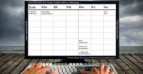 stundenplan erstellen mit schicken gratis vorlagen