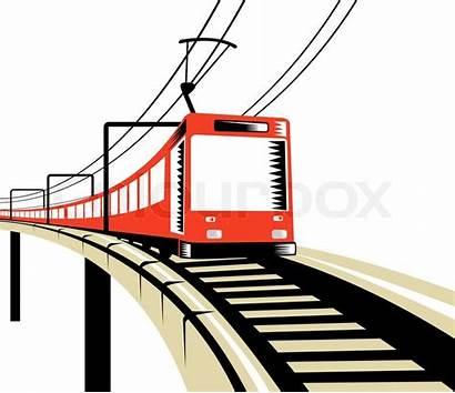 Train Clipart Bridge Railway Electric Rail Viaduct