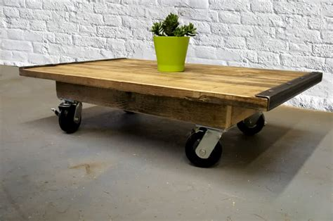 Coffee Table On Casters, Move It Anytime Homesfeed