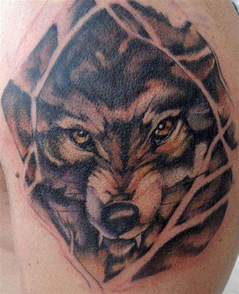 angry wolf  yellow eyes tattoo tattooimagesbiz