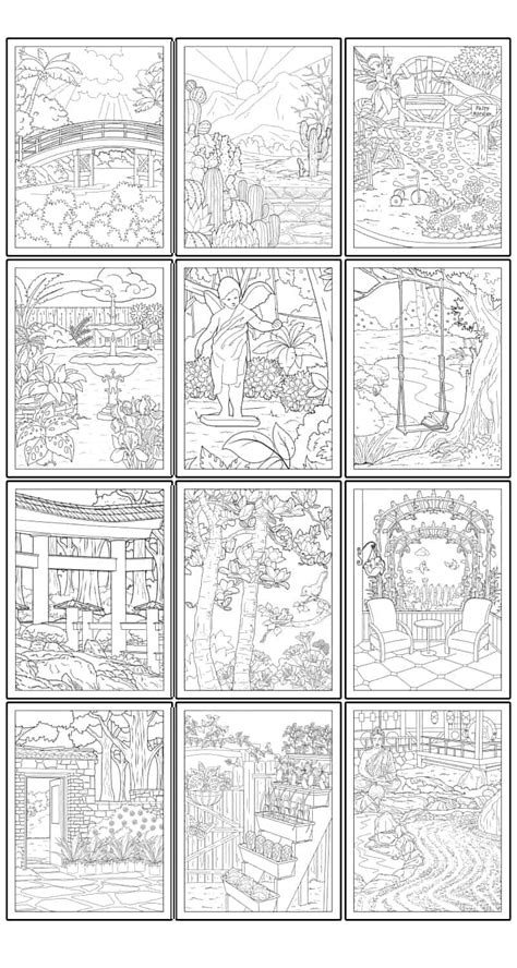 printable garden coloring pages  adults
