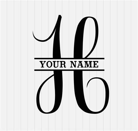 split monogram svg split letter  svg svg dxf eps etsy