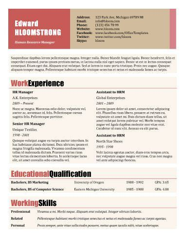Outlook Resume Templates by Rosy Outlook Resumes Cv S Portfolios Resume